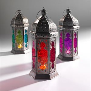 Lantern~Moroccan style large tonal glass lantern~LT12 Fair trade Gift by Namaste &Folio Gothic Hippy